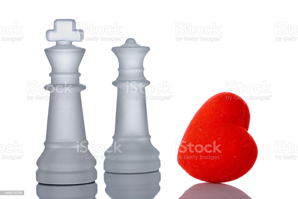 King and queen in love royalty-free stock photo