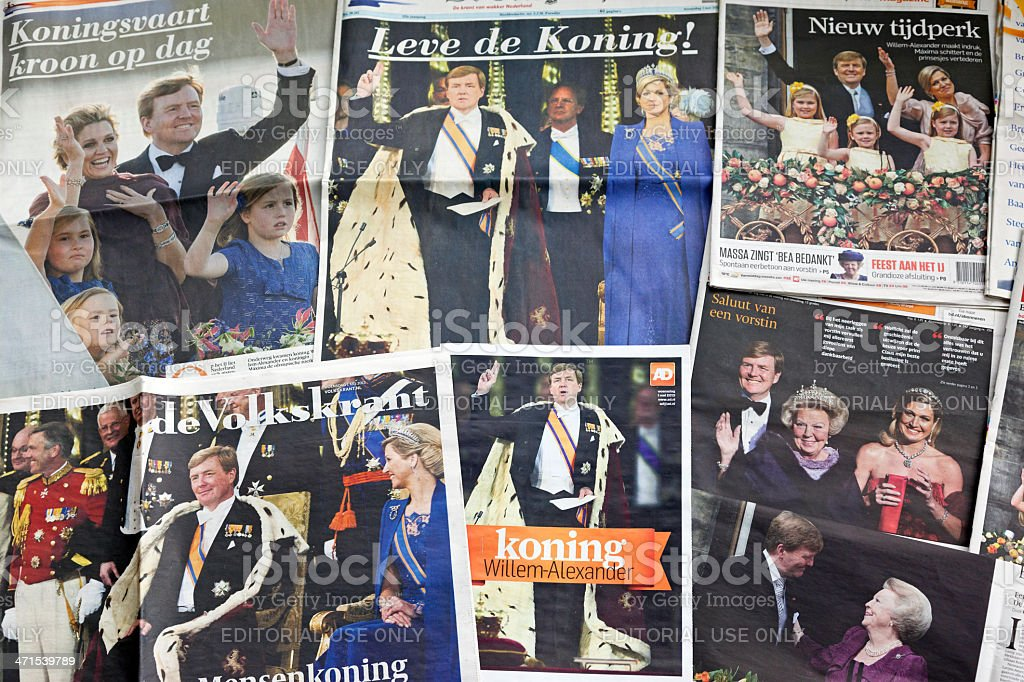 King and Queen of the Netherlands # 4 XXXL stock photo