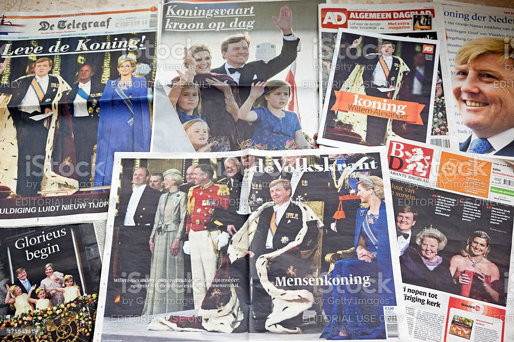 King and Queen of the Netherlands # 5 XXXL stock photo
