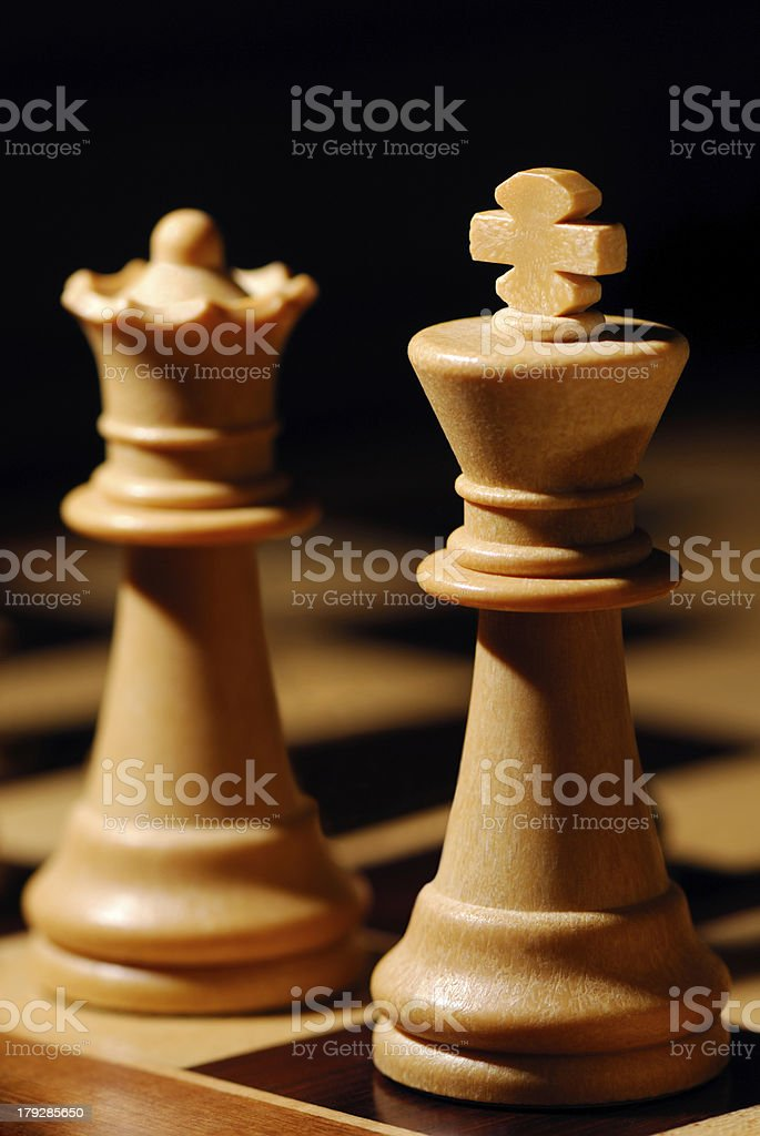 King and Queen royalty-free stock photo
