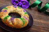 King Cake for Mardi Gras in New Orleans