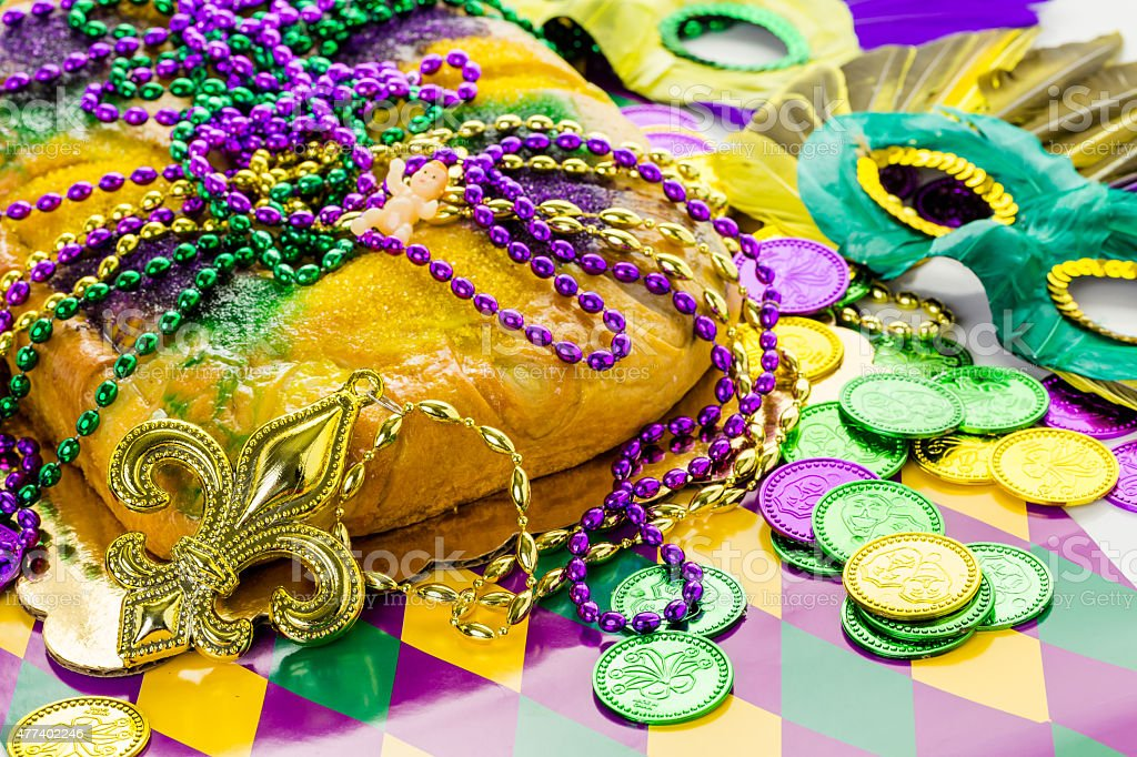 King cake stock photo