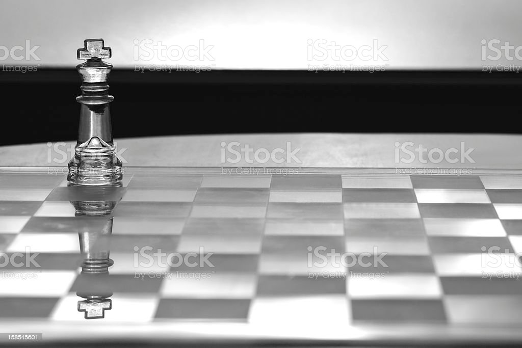 King Chess Piece - business concept, leadership, CEO, strength. royalty-free stock photo
