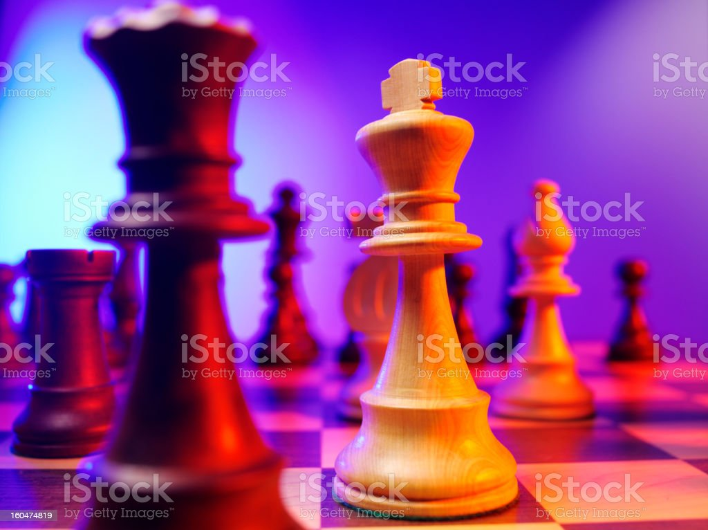 King Chess Piece in a Game stock photo