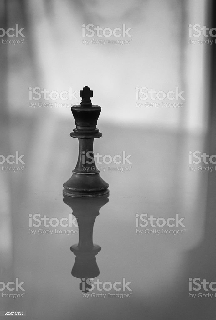 King Chess Piece in Monochrome stock photo