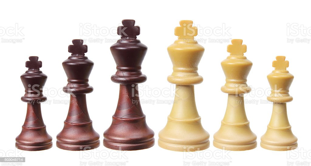 King Chess Pieces stock photo