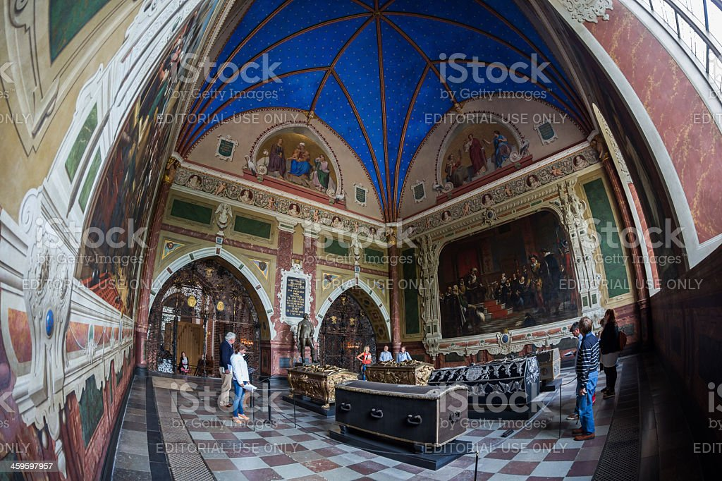 King Christian IV's chapel, Roskilde Cathedral, Denmark stock photo