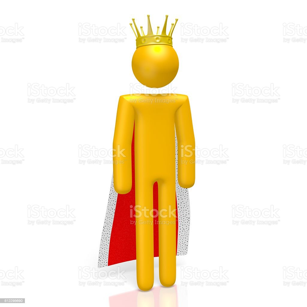 3D king concept stock photo