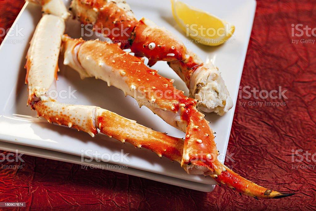 King Crab Dinner stock photo