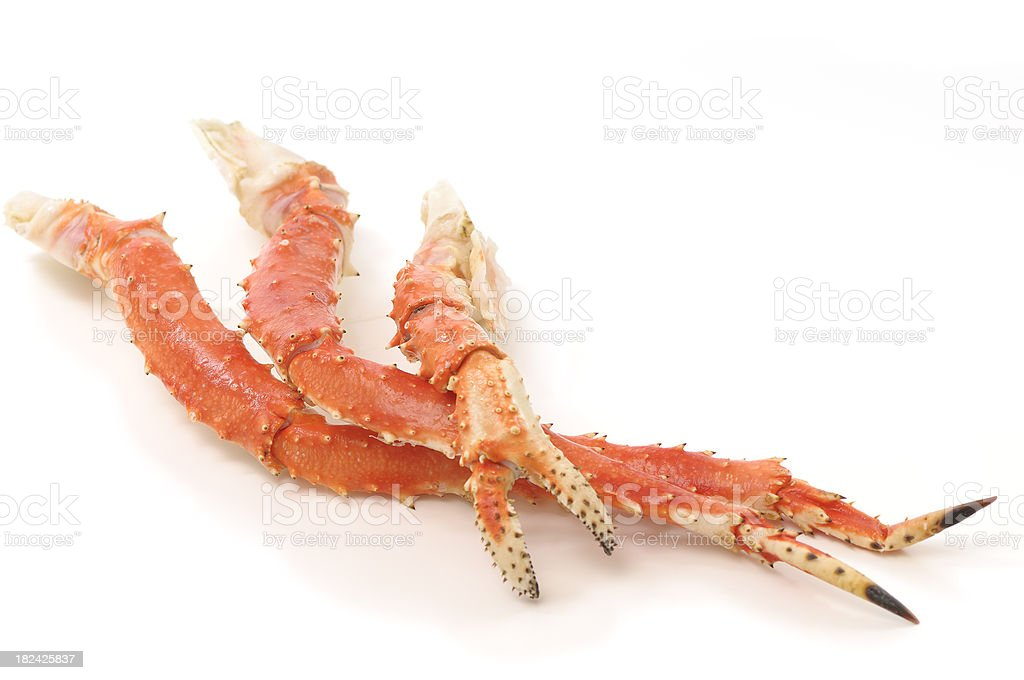 King crab legs and claw stock photo