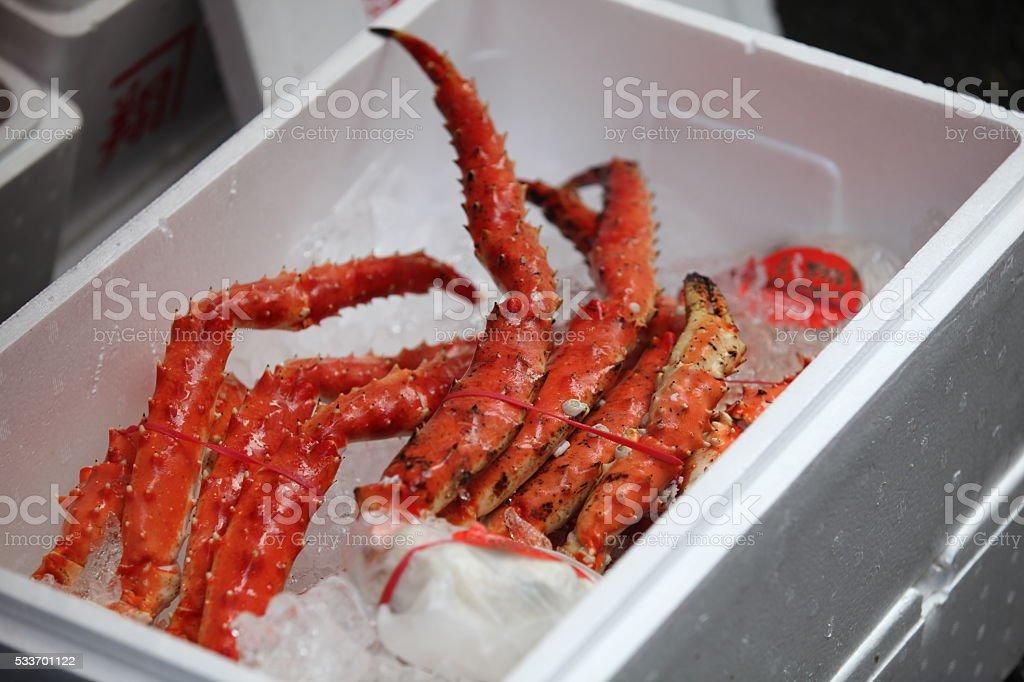 King crab limbs stock photo