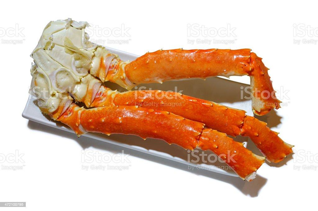 King crabs legs stock photo
