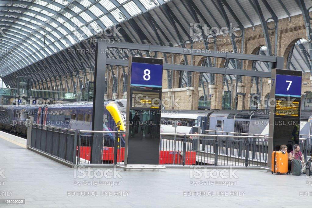 King Cross Station royalty-free stock photo