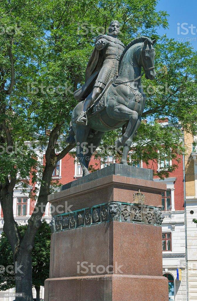 King Daniel of Galicia monument in Lviv stock photo