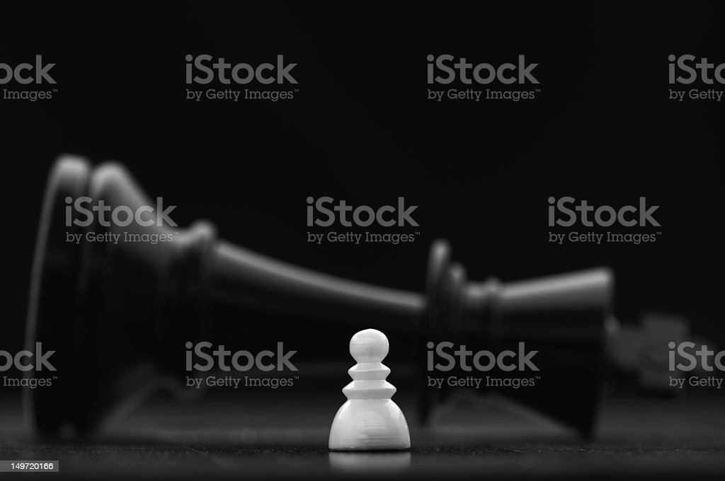 King defeated stock photo
