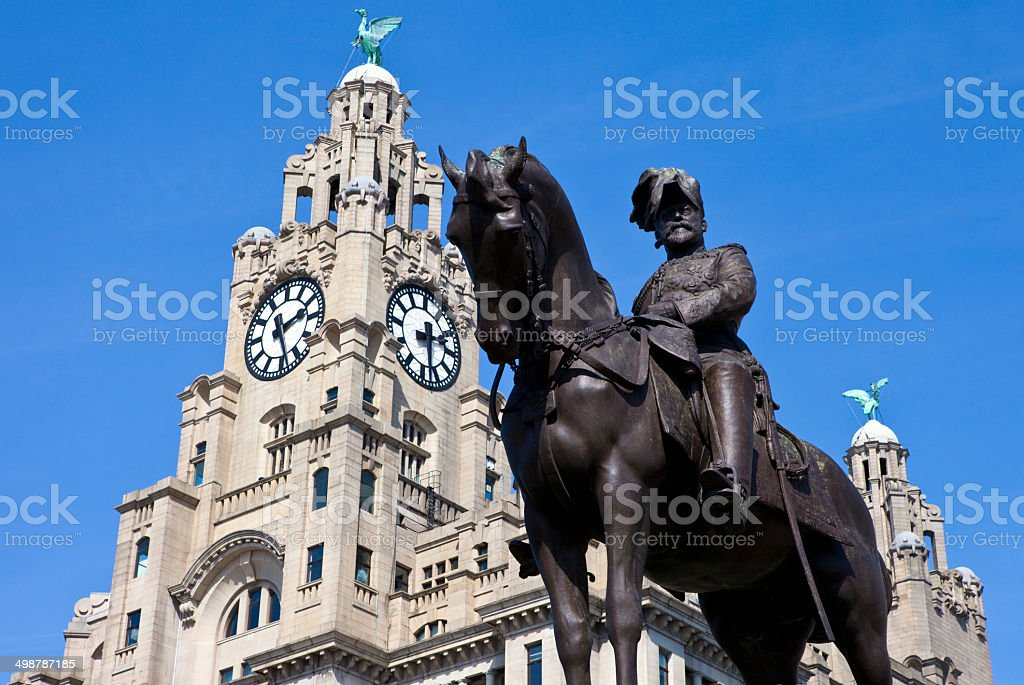 King Edward VII Monument in Liverpool royalty-free stock photo