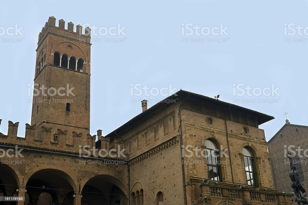 Palazzo Re Enzo stock photo