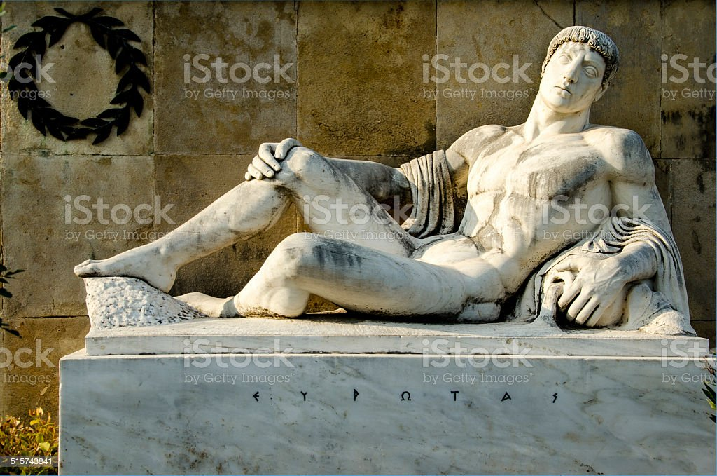 King EurotasThermopylae, Greece stock photo