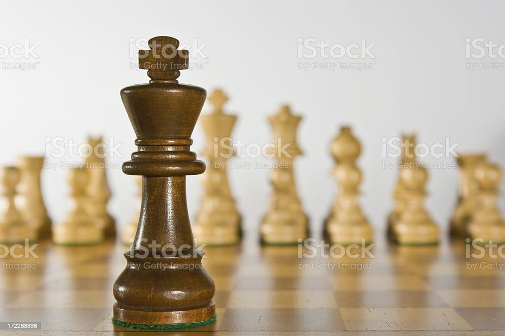 King faces opposition royalty-free stock photo