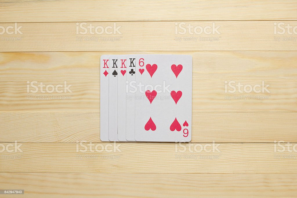 King Four of a Kind square stock photo