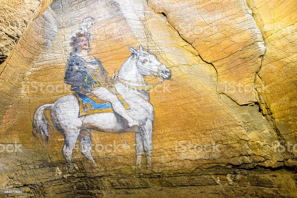 King Francis Irst (Francois 1er) 1882 paint in french cave stock photo