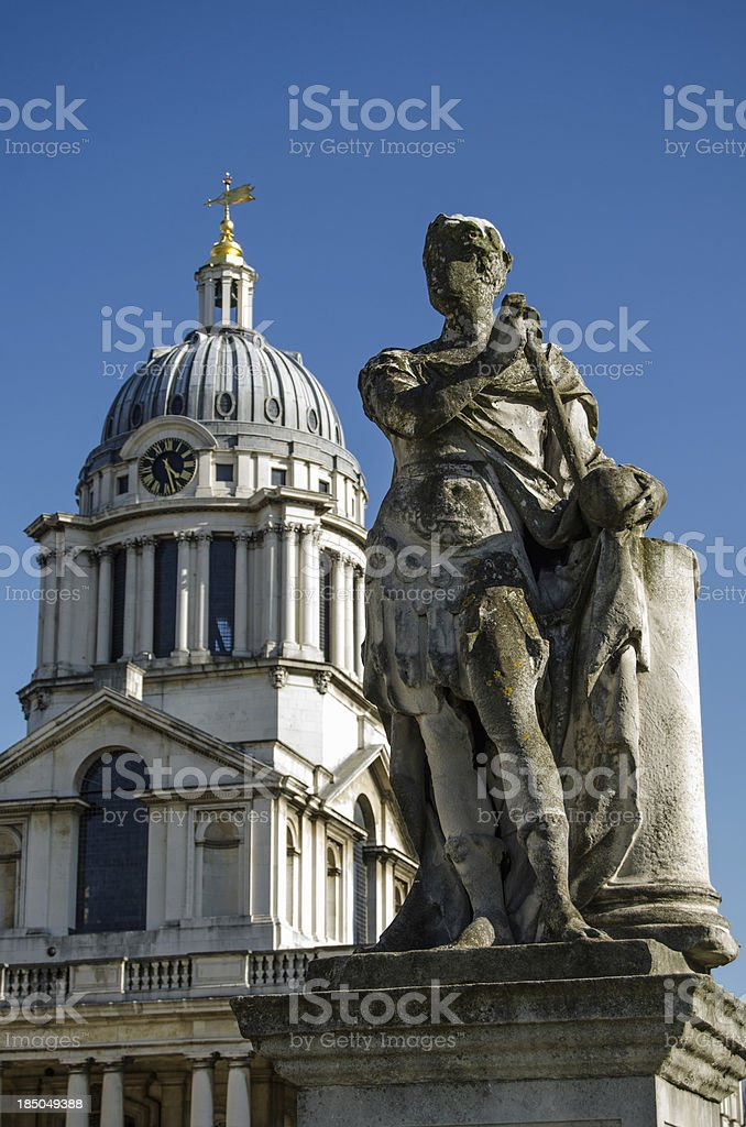 King George II Statue, Greenwich stock photo