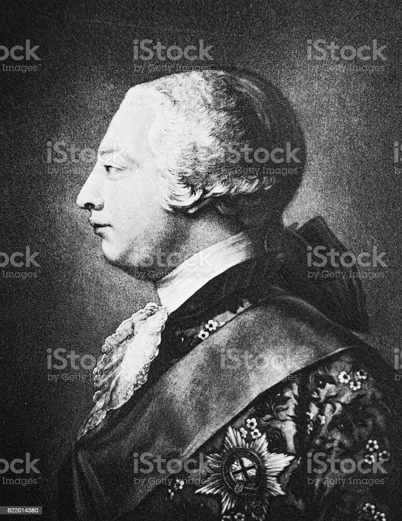 King George III og England stock photo