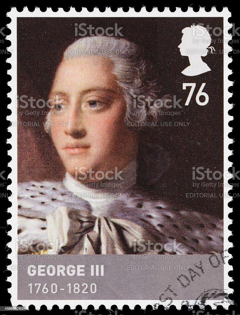 UK King George III postage stamp stock photo
