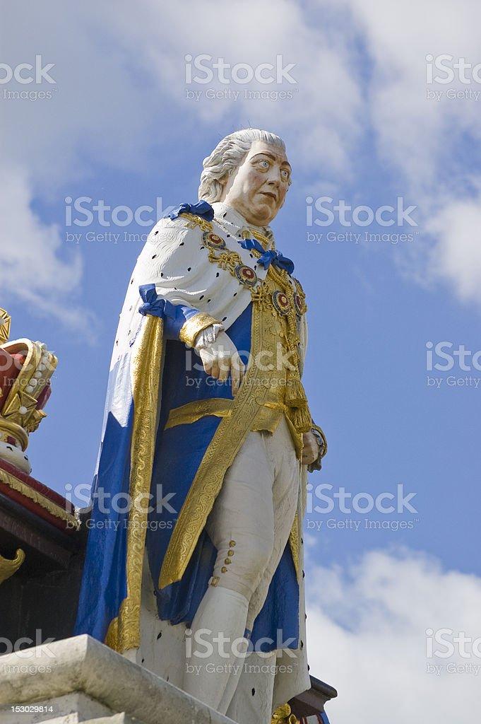 King George III statue, Weymouth royalty-free stock photo