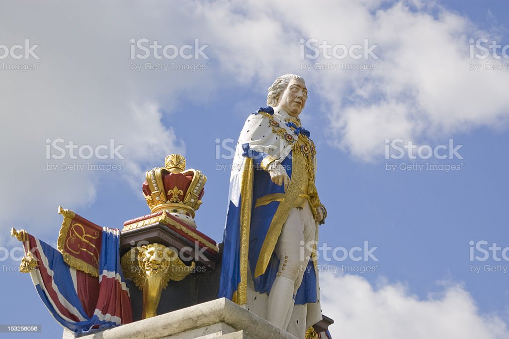 King George III statue, Weymouth stock photo