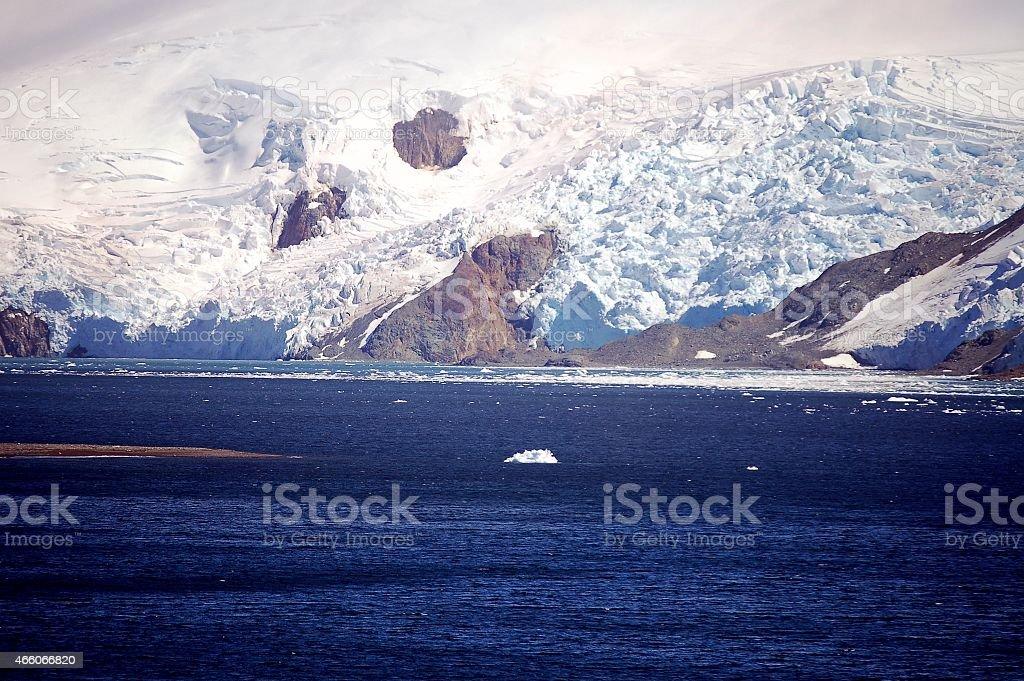 King George Island Admiralty Bay Glacier stock photo