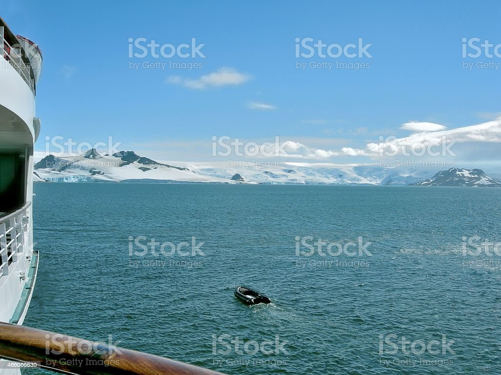 King George Island Cruise View In Admiralty Bay stock photo