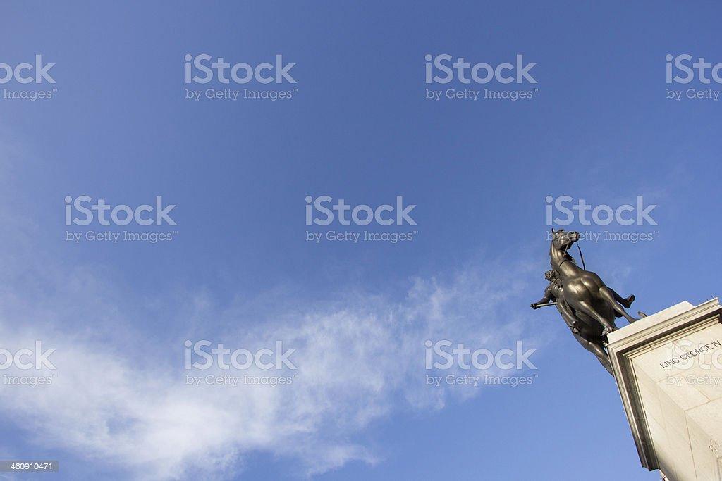King George IV in Trafalgar Square, London royalty-free stock photo