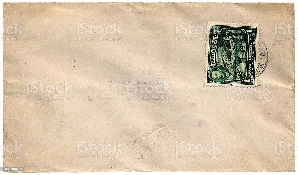 King George VI envelope from British Guiana royalty-free stock photo