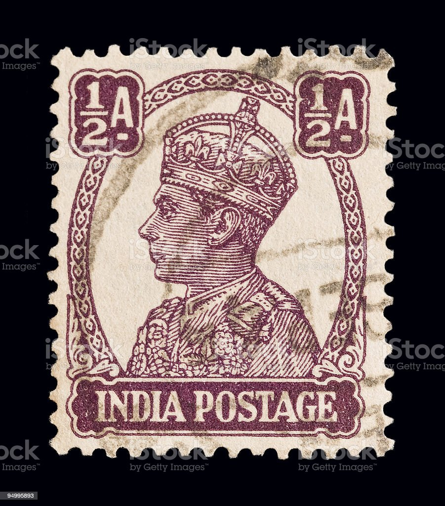 King George VI stock photo