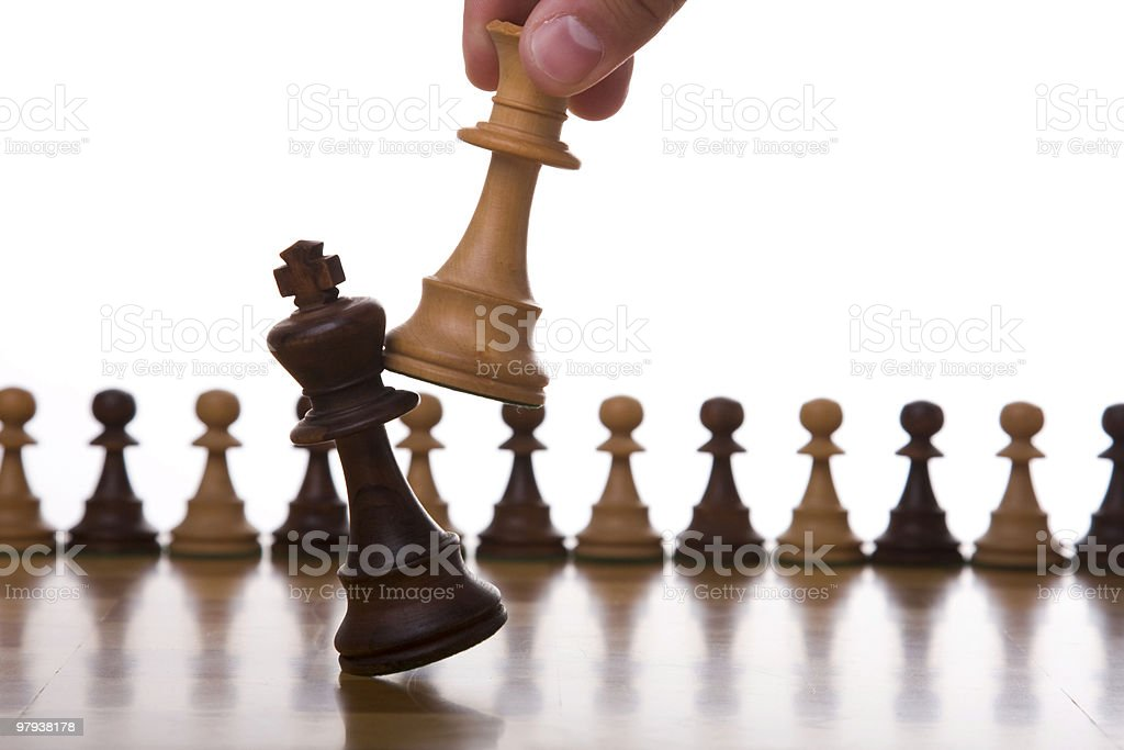 King goes down stock photo