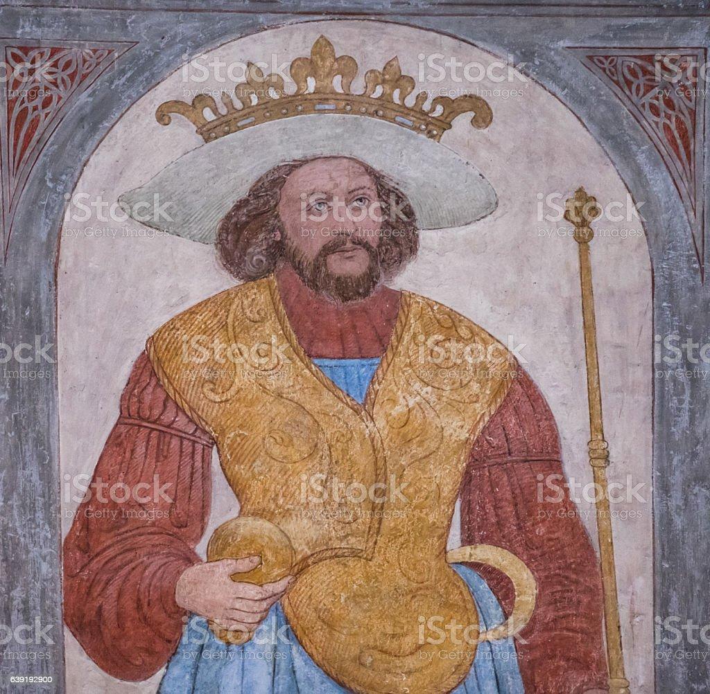 King Harald Bluetooth stock photo