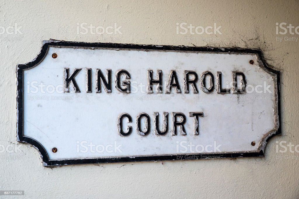 King Harold Court in Waltham Abbey stock photo