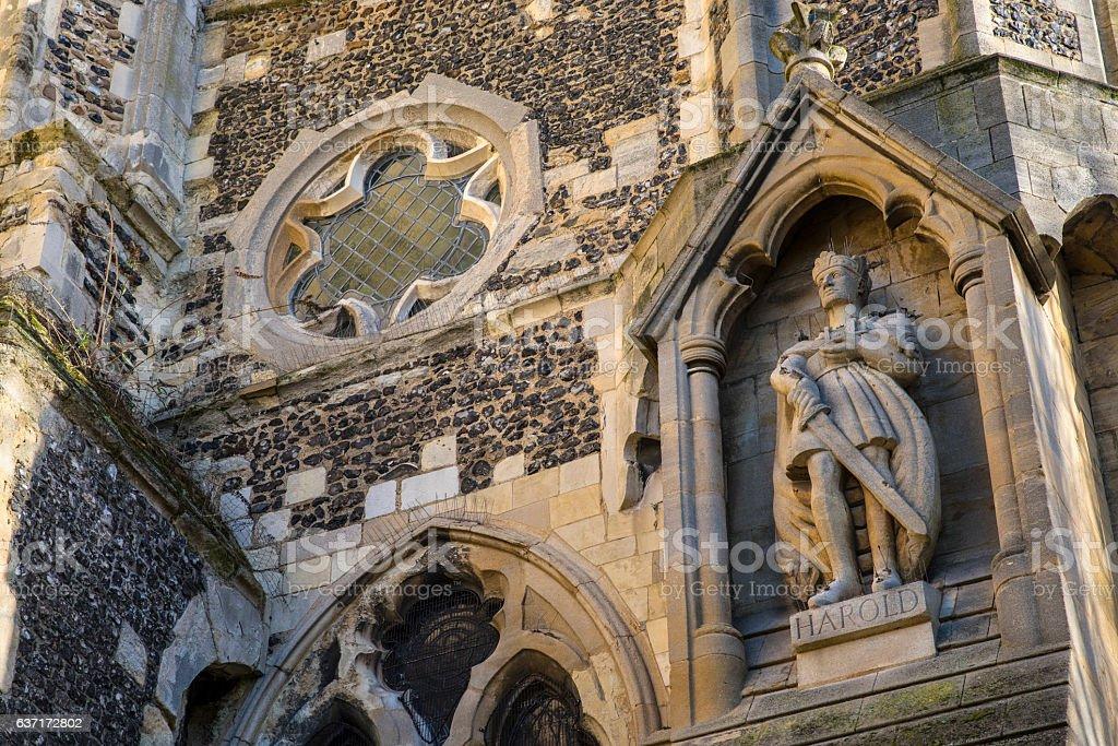King Harold State at Waltham Abbey Church stock photo