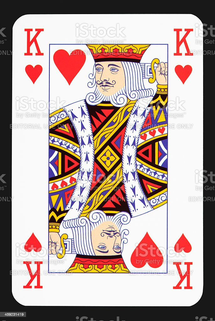 King heart stock photo