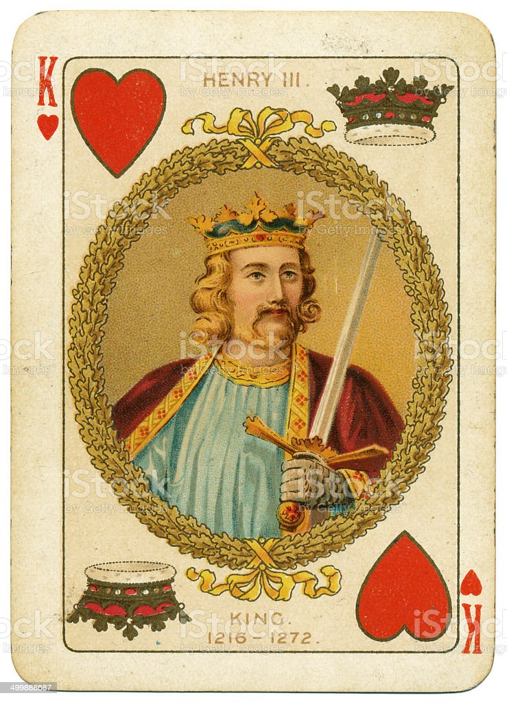 King Henry III playing card from Diamond Jubilee pack 1897 stock photo