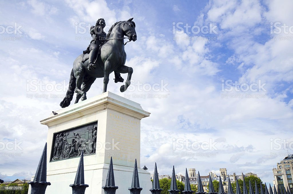 King Henry IV statue in Paris, France stock photo