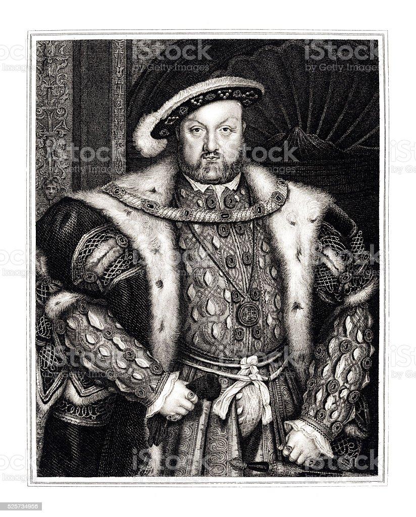 King Henry VIII engraving 1830 stock photo