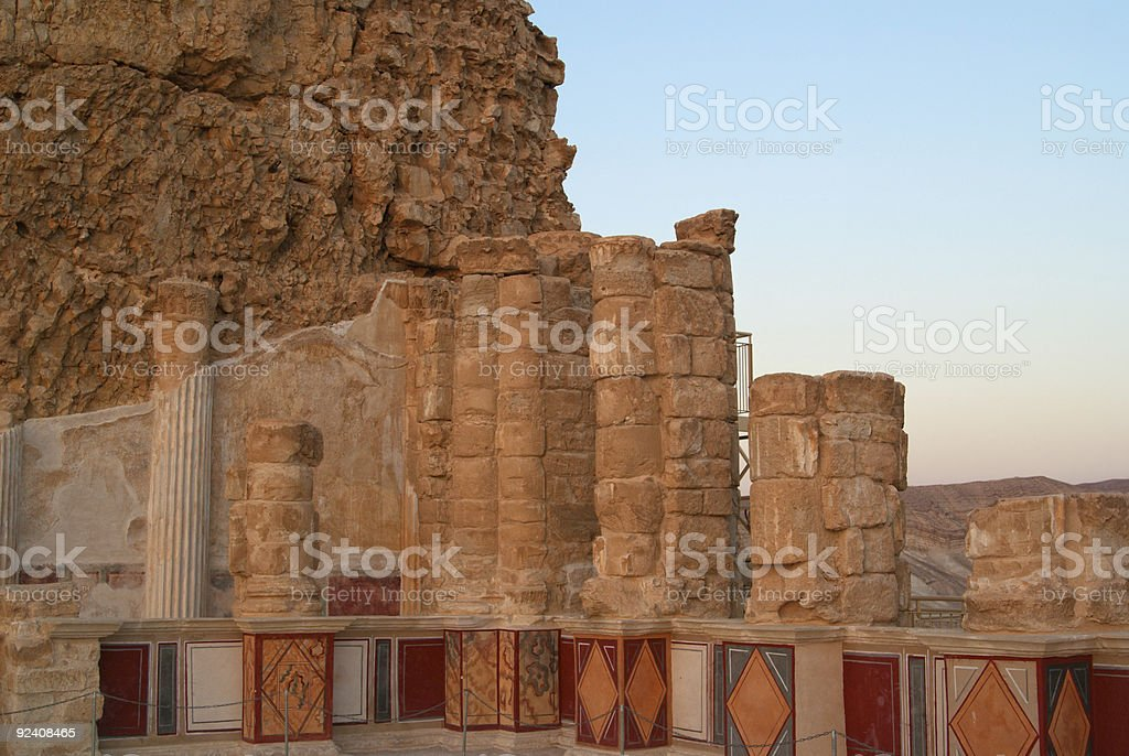 King Herod's northern palace on Masada stock photo