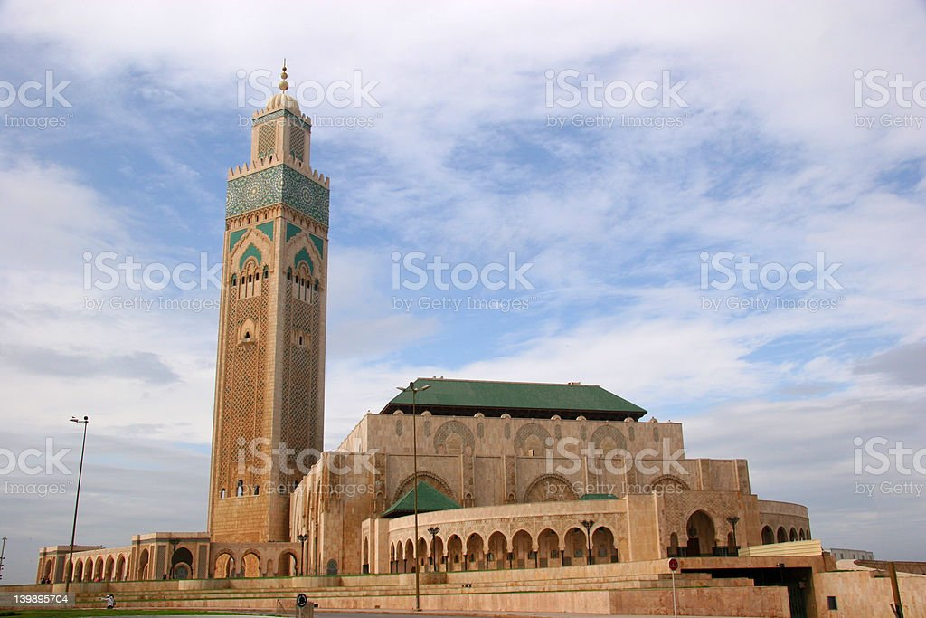 King Hussan II Mosque royalty-free stock photo