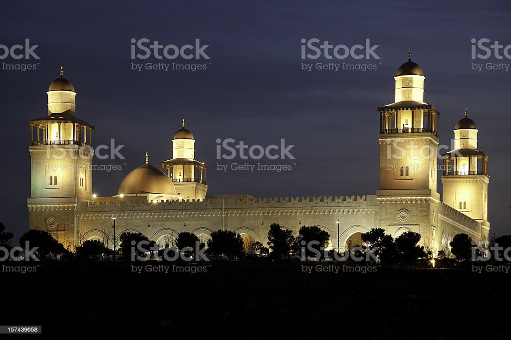 King Hussein Mosque stock photo