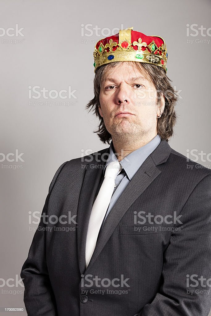 King in suit royalty-free stock photo