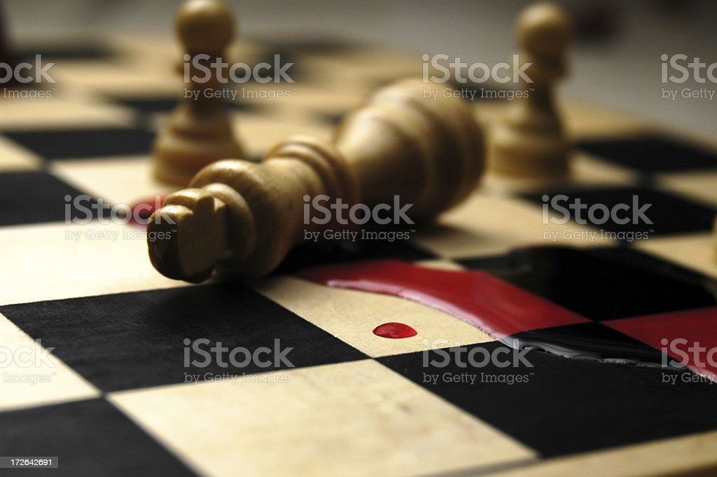 King is dead royalty-free stock photo