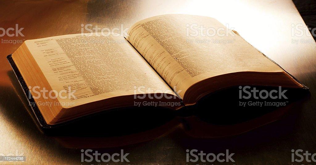 King James Bible - Open to Jeremiah 29 royalty-free stock photo