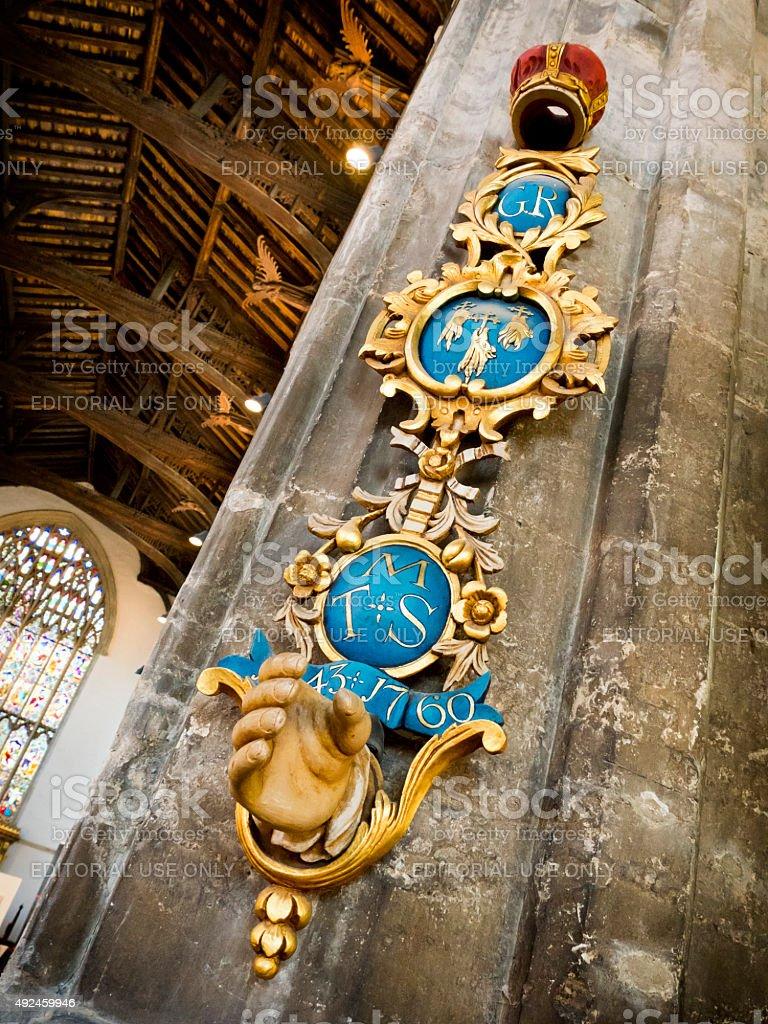 King John Sword Rest, St Nicholas chapel, King's Lynn stock photo
